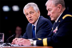 Image: Defense Secretary Chuck Hagel and Chairman Joint Chiefs of Staff General Martin E. Dempsey