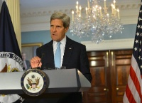 Secretary of State John Kerry making the case that Damascus has used chemical weapons (US State Department)
