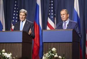 Secretary of State John Kerry and Russian Foreign Minister Sergey Lavrov.