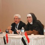 Professor Atif Kibursi and Mother Agnes Mariam