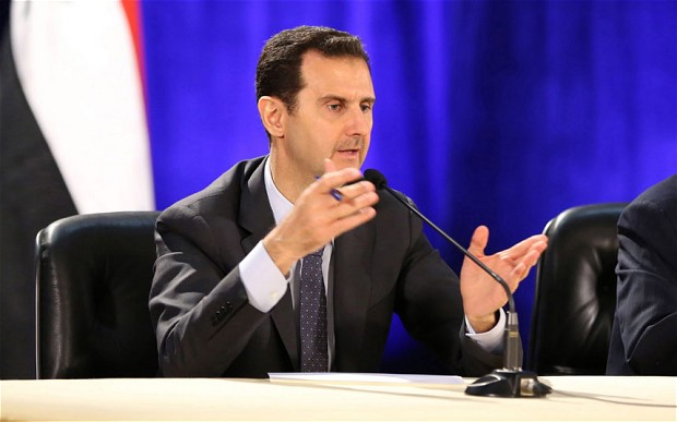 People in Syria see their country as being threatened by foreign powers, who are sponsoring the jihadist groups fighting President Assad Photo: EPA